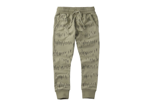 MINGO Slim fit jogger Grass Print Oak