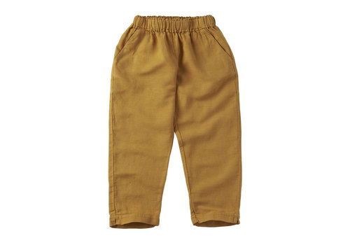 MINGO Linen trousers Spruce Yellow