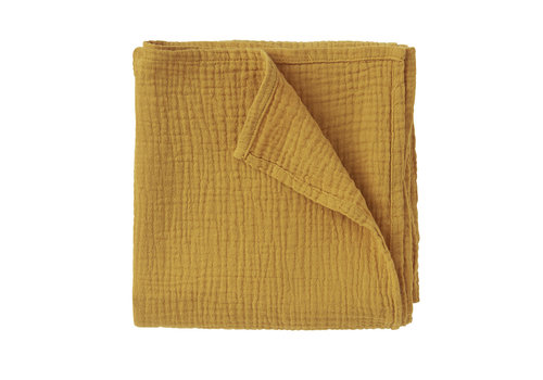 MINGO Swaddle 85 x 85 cm Spruce Yellow Mouslin