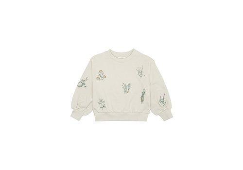 Soft Gallery Elvira Sweatshirt Seedpearl, Herbs Emb