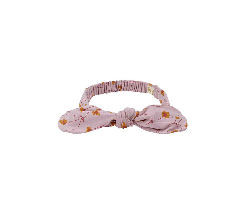 Bow Hairband Dawn Pink, AOP Buttercup S