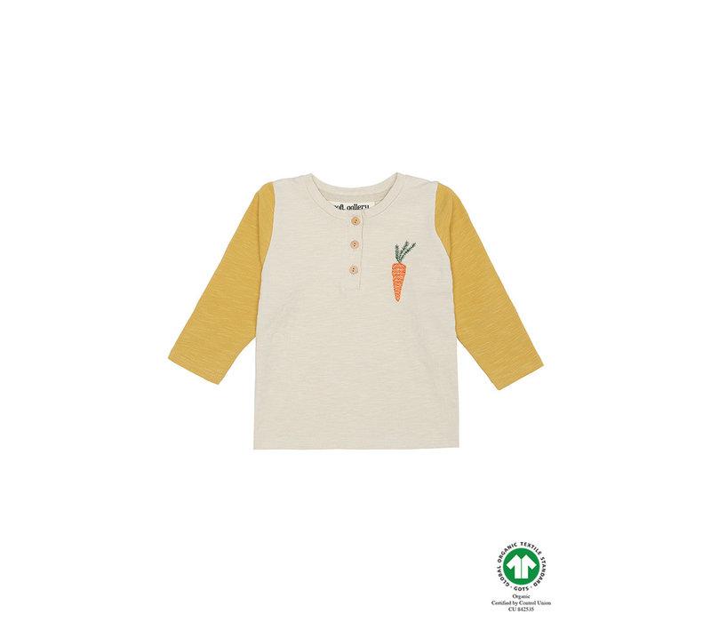 Fieldy Shirt Oyster Gray, Carrot Emb
