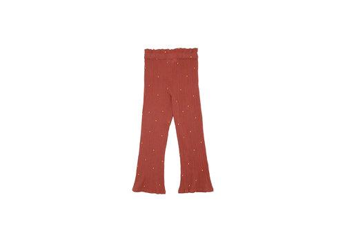 Soft Gallery Francine Pants Cinnabar, AOP Dotty Emb