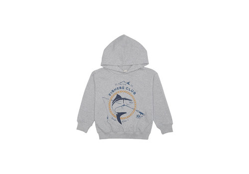 Soft Gallery Bowie Hoodie Grey Melange, Fish Club