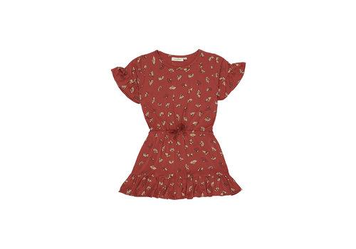 Soft Gallery Danica Dress Burnt Brick, AOP Camomile