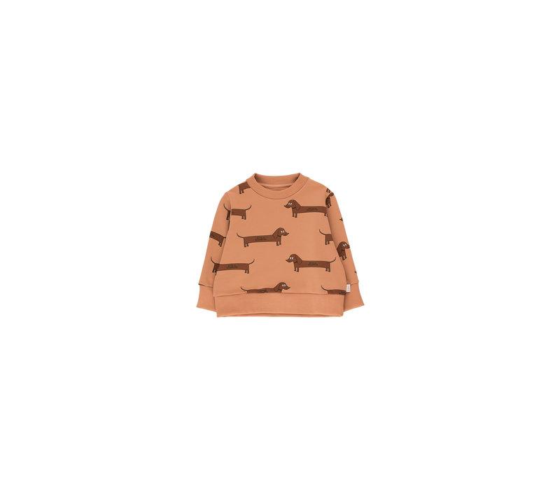 Il Bassotto Sweatshirt Tan/Dark Brown