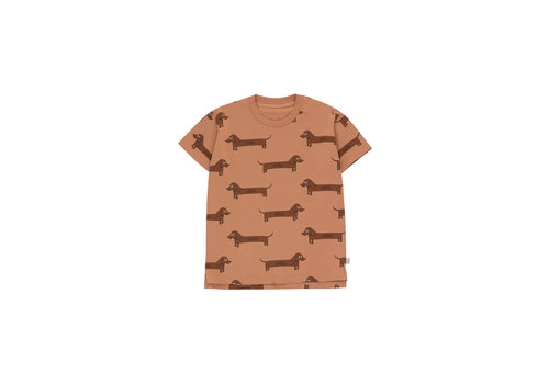 Tiny Cottons Il Bassotto Tee Tan/Dark Brown