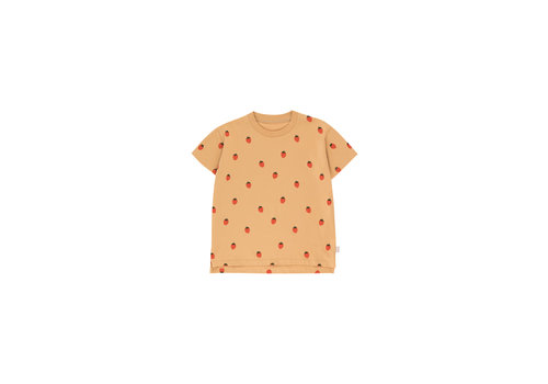 Tiny Cottons Strawberries Tee Toffee/Red