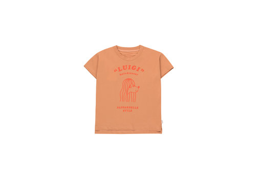 Tiny Cottons Pappardelle Style Tee Tan/Red