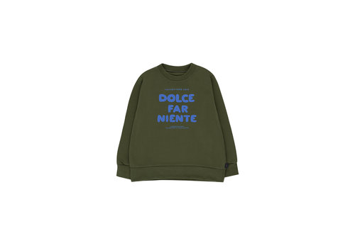 Tiny Cottons Dolce Far Niente Sweatshirt Olive Dark Green/Cerulean Blue