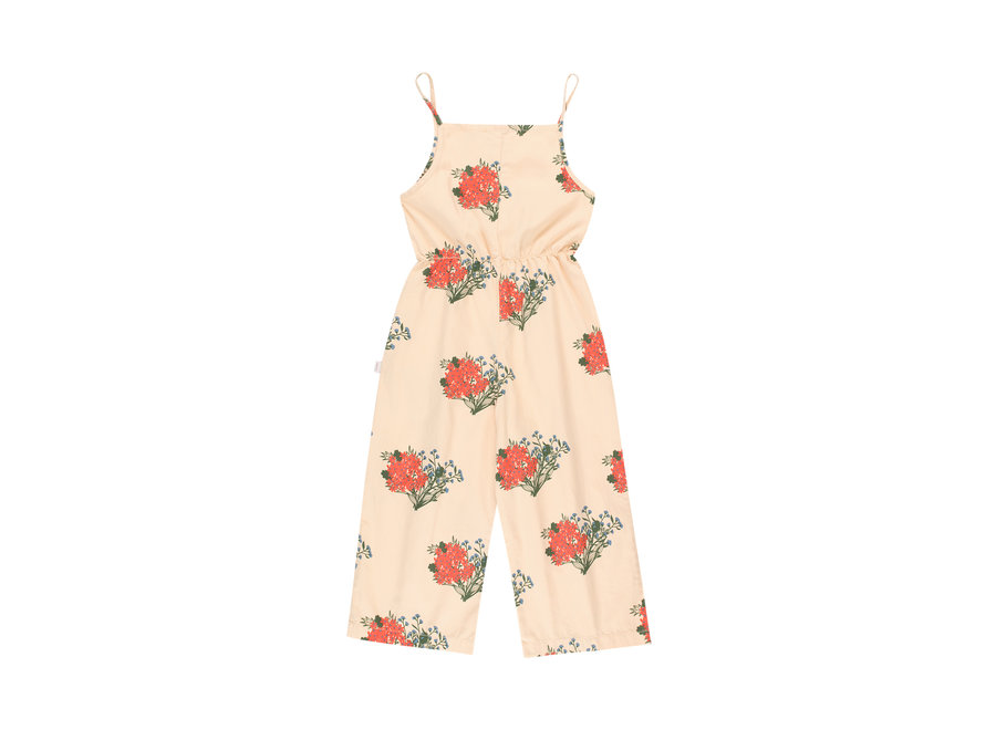 Flowers Jumpsuit Cappuccino/Red