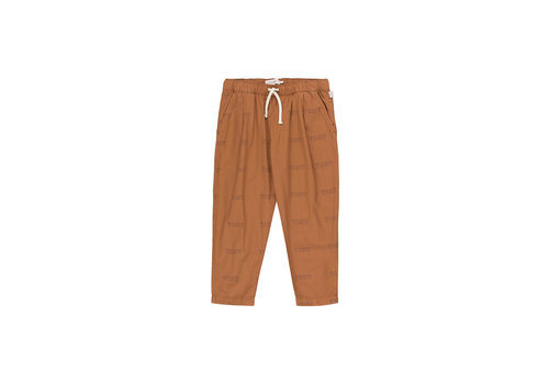 Tiny Cottons Tiny Pleated Pant Cinnamon/Light Navy