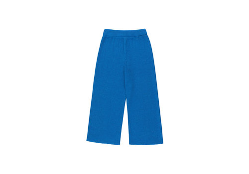 Tiny Cottons Shiny Rib Pant Cerulean Blue