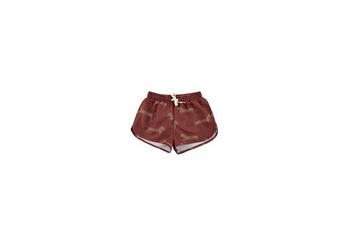 Tiny Cottons Il Bassotto Trunks Dark Brown/Cinnamon