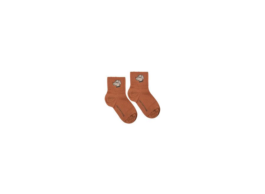 Dog Quarter Socks Cinnamon/Cappuccino