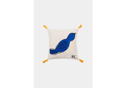 BOBO CHOSES Bird Cushion Azure Blue