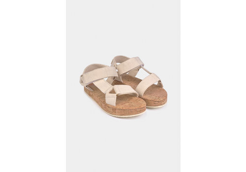BOBO CHOSES Bobo Choses Raw Velcro Sandals Turtledove