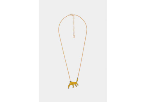 BOBO CHOSES Leopard Necklace Spectra Yellow