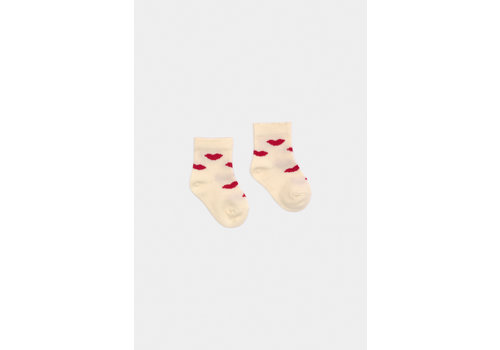 BOBO CHOSES Kiss Short Socks Turtledove
