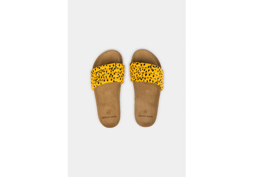 BOBO CHOSES All Over Leopard Sandals Spectra Yellow