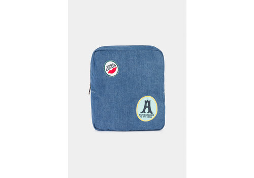 BOBO CHOSES Patches School Bag Azure Blue