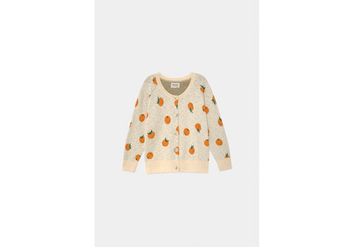 BOBO CHOSES Oranges Knitted Cardigan Turtledove