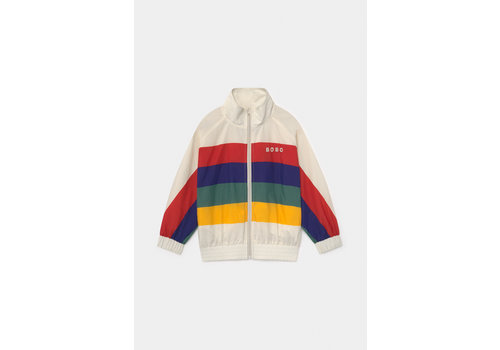 BOBO CHOSES Multicolor Tracksuit Jacket Turtledove