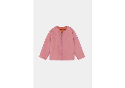 BOBO CHOSES Reversible Bird Embroidery Quilted Jacket Heather Rose