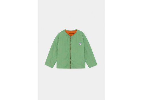 BOBO CHOSES Reversible A Embroidery Quilted Jacket Aspen Green