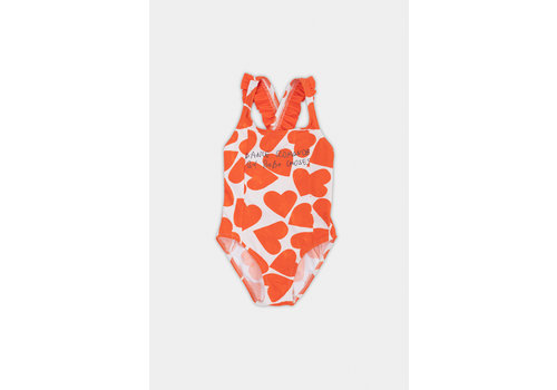 BOBO CHOSES All Over  Hearts Swimsuit Turtledove