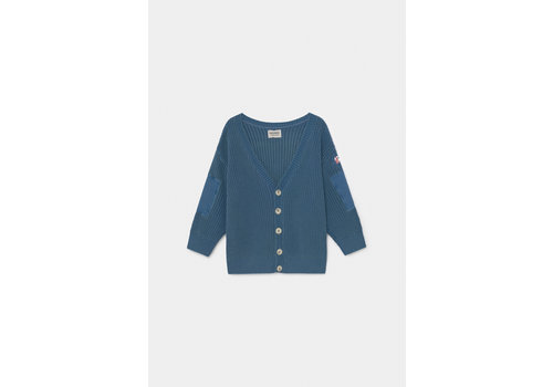 BOBO CHOSES Blue Knitted Cardigan Azure Blue
