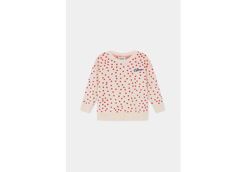 BOBO CHOSES Dots Knitted Jumper Turtledove