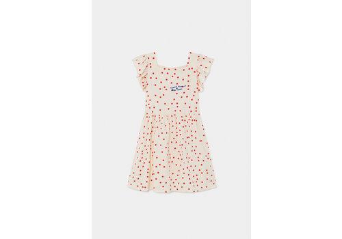 BOBO CHOSES Dots Jersey Ruffle Dress Turtledove