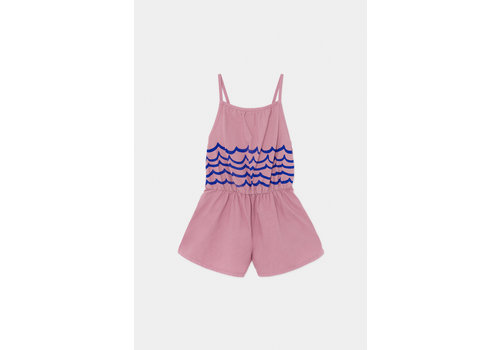 BOBO CHOSES Waves Woven Playsuit Heather Rose