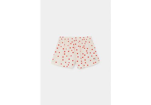 BOBO CHOSES Dots Jersey Shorts Turtledove