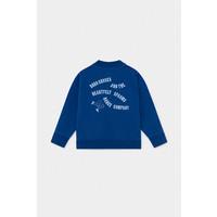 Dancing Legs Zipped Sweatshirt Magazine Blue