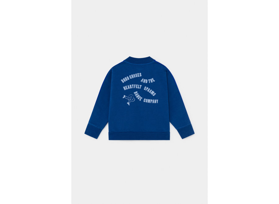 Dancing Legs Zipped Sweatshirt Magazine Blue