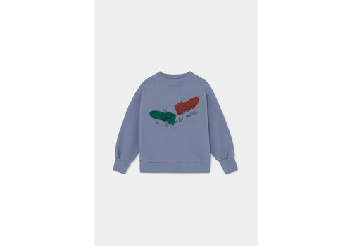 BOBO CHOSES Dancing Shoes Sweatshirt Stonewash