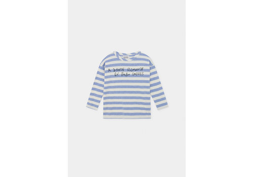 BOBO CHOSES A Dance Romance Striped Long Sleeve Shirt Blue Stripes