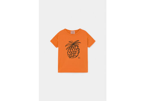 BOBO CHOSES Pineapple T-Shirt Celosia Orange