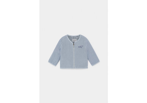 BOBO CHOSES Bird Zipped Jacket Blue Fog
