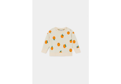 BOBO CHOSES Oranges Knitted Jumper Turtledove