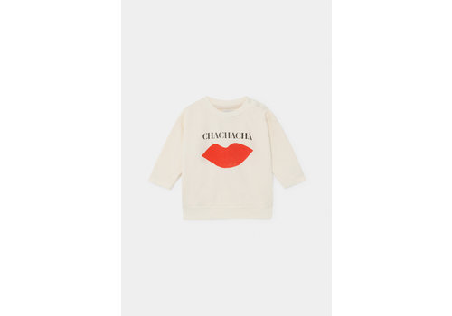 BOBO CHOSES Chachacha Kiss Sweatshirt Turtledove