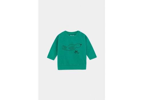 BOBO CHOSES Bird Sweatshirt Cadmium Green