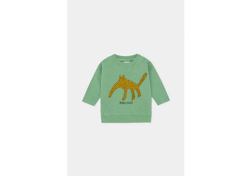 BOBO CHOSES Leopard Sweatshirt Aspen Green