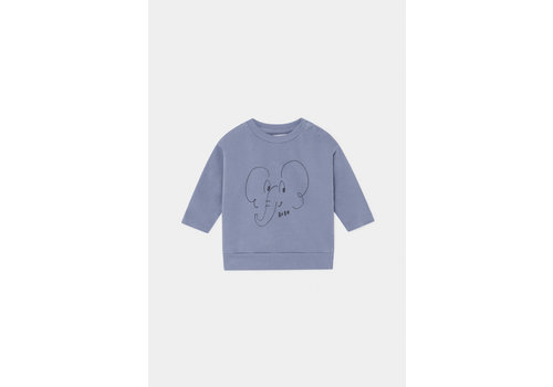 BOBO CHOSES Elephant Sweatshirt Stonewash