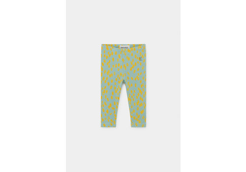 BOBO CHOSES Animal Print Leggings Frosty Green