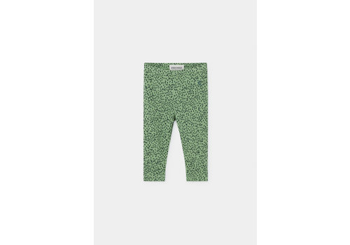 BOBO CHOSES All Over Leopard Green Leggings Aspen Green