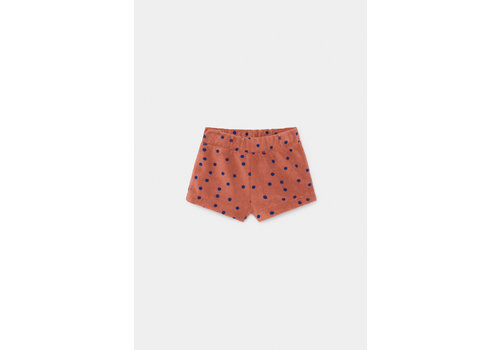 BOBO CHOSES Dots Terry Towel Shorts Autumn Leaf