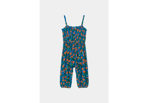 BOBO CHOSES All Over Oranges Smocked Overall Azure Blue